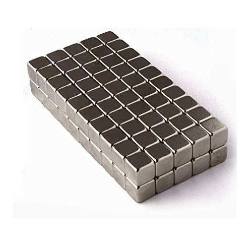 movmagx Magnetwürfel 5mm [ 100 Stück, Anthrazit ] inkl. Samtbeutel - Super Starke Magnete für Pinnwand, Magnettafel, Whiteboard, Kühlschrank