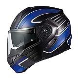 オージーケーカブト(OGK KABUTO)バイクヘルメット システム KAZAMI XCEVA(エクセヴァ) フラットブラックブルー (サイズ:L) 571757