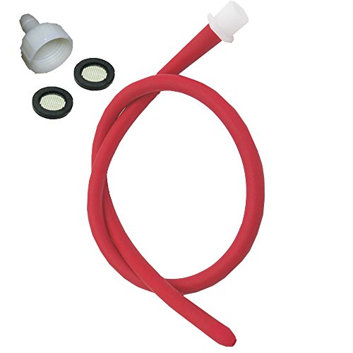 Enema Kit Shower Tubing Anal Cleaning Reusable Douche Red Hose Nozzle (39 in)