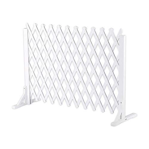 Zaun, Freistehender Privatsphäre Zaun-Bildschirm, Expandierende Trellis Für Kletterpflanzen Im Freien Upgrade Der Massiven Weißen Gitterplatten Für Externe Partition Dekorativ (Size : 70X160cm)