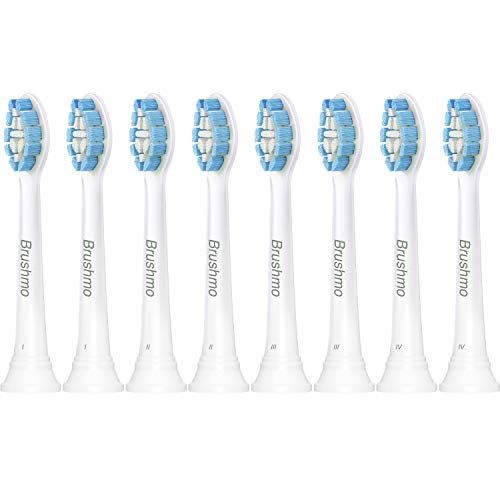 Replacement Toothbrush Heads Compatible with Philips Sonicare Optimal Gum Health HX9033, White 8 Pack