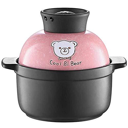 YUHT Cartoon Mini Flat Frying Pan, Small Ceramic Pot Clay Pot, Baby Blue Gas-Proof Household Anti-Scald cocotte 0.6L Soup Pot