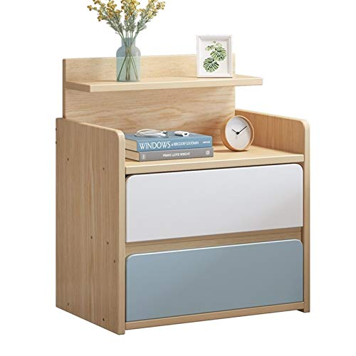 YYOBK 2-Drawers Nightstand,Wood Accent Table, End Table,Side Table, Night Stand,Storage Cabinets,Bookcases, Bedside Table, Bedside Furniture For Home Bedroom Office College Dorm