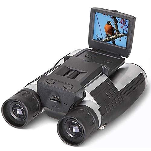 LJWJ Ferngläser Digital Zoomen Fernglas,Hd Videoaufnahme Multifunktions Kamera Spektive/Schwarz / 12x32