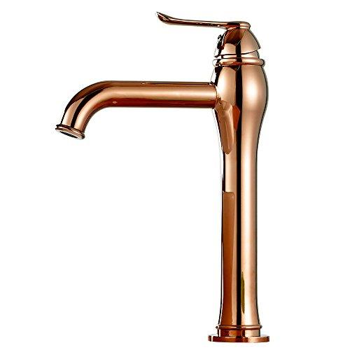 Design Bad Waschbecken Armatur Einhebel Mixer Wasserhahn Rose Gold Sanlingo Serie KARA