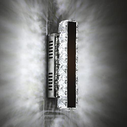 Lámpara de Pared de Cristal, 6W LED Aplique de Pared Moderno, 6000K...