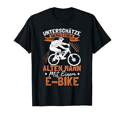 Herren Unterschätze niemals einen alten Mann - Lustiges E Bike T-Shirt