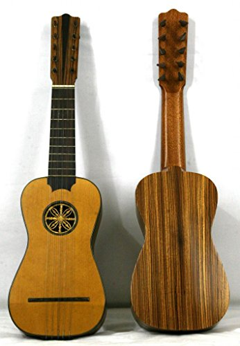 Musikalia luthery Battente Gitarre mit Holz Pegs–3/4Dimension