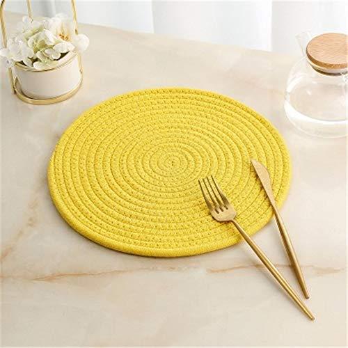 GUOCAO Coaster Table Mat Isolierung Schüssel Pad weicher handgefertigte ovale runder Entwurf Baumwolle Antiverbrühschutz Platzdeckchen Beleg Küchenzubehör Matte (Color : 5, Size : Round)