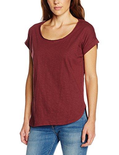 Urban Classics Damen Ladies Long Back Shaped Slub Tee T-Shirt, Rot (Burgundy 606), Large