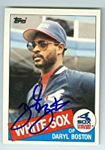 Autograph 223395 Chicago White Sox 1985 Topps No. 8T Rookie Daryl Boston Autographed Baseball Card