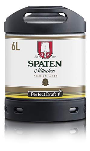 Bier PerfectDraft 1 x 6-Liter Fass Spaten München Premium Lager Bier - Lager. Zapfanlage für Zuhause. Inklusive 5euros Pfand.