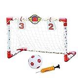 BaoYPP Mini Portería de Fútbol Plegable GOL de fútbol Infantil Juguete de Juguete Interior Deportes de hogar con Plegable portátil niño pequeño GOL de fútbol Neto Fácil de Montar