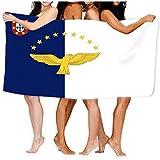 Toalla de Playa Suave Ligero Absorbente Bandera Azores Bandera Azores Ai Aviable Azul Aigle Star