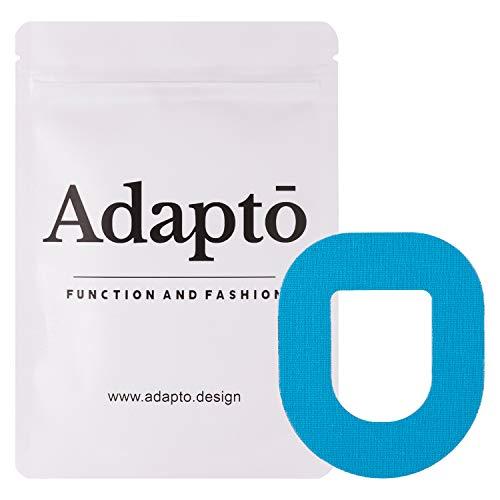 Adapto Omnipod Klebepflaster | Für Diabetes-Sensor | Wasserfest, hypoallergen | 10er-Pack, Blau