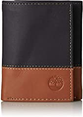 """100% GENUINE LEATHER WALLET - This mens trifold wallet is crafted from genuine Italian leather, with a soft texture that is very smooth to the touch and will look terrific even as it ages with everyday use COMPACT DESIGN - Measuring 4.25"""" high by 3.5..."""