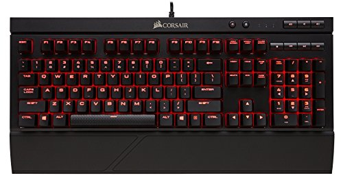 CORSAIR K63 Compact Mechanical Gaming Keyboard - Linear & Quiet - Cherry MX Red (Renewed)