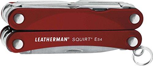 LEATHERMAN LT831235 SQUIRT ES4 HERRAMIENTAS LLAVERO, Rot
