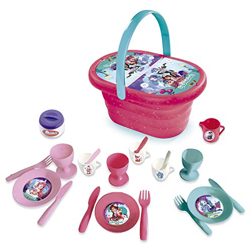 Smoby Enchantimal picknickmand voor kinderen donkerpaars/roze