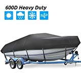 Trailerable Boat Cover, Heavy Duty Waterproof Boat Cover, 17-19ft UV...
