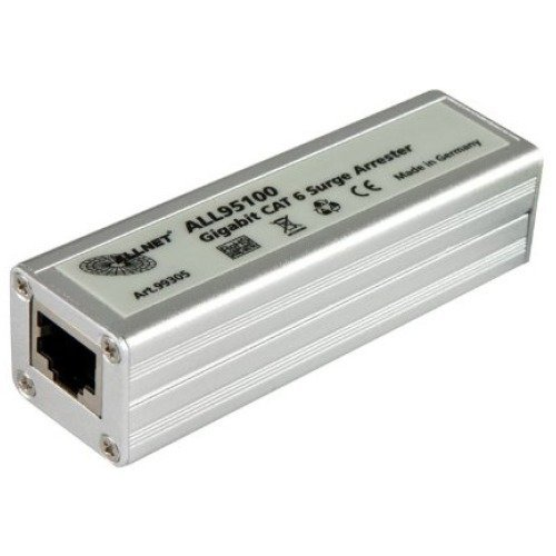 AllNet ALL95100 TP Outdoor Blitzschutz Power Surge (Category 6/ADSL/VDSL/ISDN, 2X RJ-45)