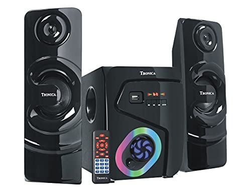 TRONICA BT-222 Wireless Bluetooth Stereo Home Theater with Powerful Sound, Bass System, Excellent Clear FM Radio, Remote Control, Aux-in Port, USB/SD/Smart TV Support 35 W
