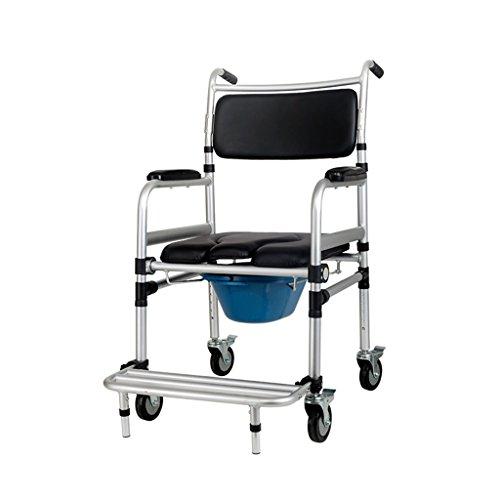 Commode Chaise Vieil Homme Assis Chaise Enceinte Femme Siège Chaise Pliant Toilettes pour Personnes Handicapées Mobile Toilette Chaise Commode