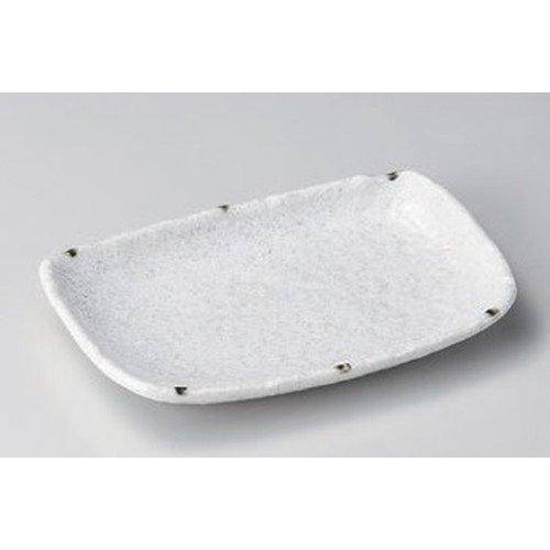 粉引水玉6.0焼物皿 [ 17.5 x 11.8 x 2.2cm 256g ] 【 のり皿 】 【 料亭 旅館 和食器 飲食店 業務用 】