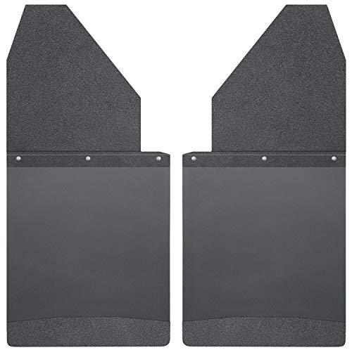 Husky Liners - 17112 Kick Back Mud Flaps 14IN Wide -Black Top/Wt Fits Silverado/F150/Ram