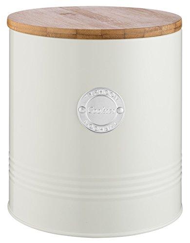 Typhoon Living Boîte à biscuits en acier, crème, 16 x 16 x 18 cm