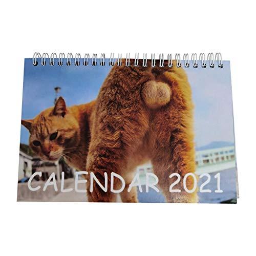 tidystore Calendario de mesa 2021, calendario divertido 2021 – Calendario de escritorio de animales salvajes que hacen la caca.