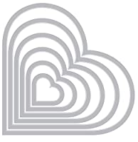 Sizzix 枠 ハート(2.2×2.2cm ~13.6×11.4cm 6サイズ) 657561【日本正規品】