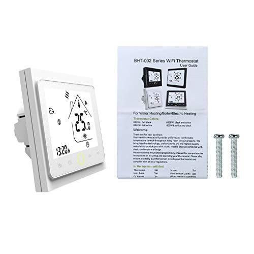 Mingtongli Wi-Fi de la Caldera de calefacción del termostato LCD de Pantalla de la Sala del regulador de Temperatura con luz de Fondo, Blanca