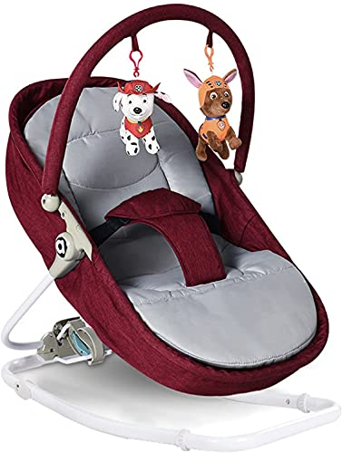 Haojie Baby Bouncer, Baby Swing, 18Kg Weight, Three-Stage Adjustment, Convenient Storage, Suitable for Newborns Or Babies,A