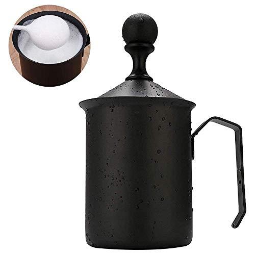 Montalatte Coffe Latte, caffè del Latte di Frother Foamer, Latte Frother Handheld caffè Schiuma Latte Latte Foother, in Acciaio Inox con Teflon Coating, for la casa WTZ012