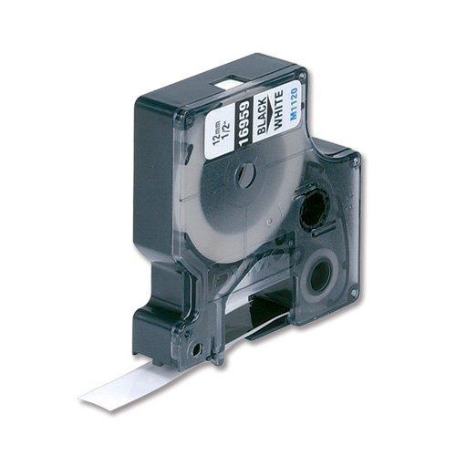 Dymo 12mm D1Permanent Polyester Tape–Bänder für Drucker Etiketten (D1, Polyester, 1,2cm, 5,5m, Box, 1,9cm)