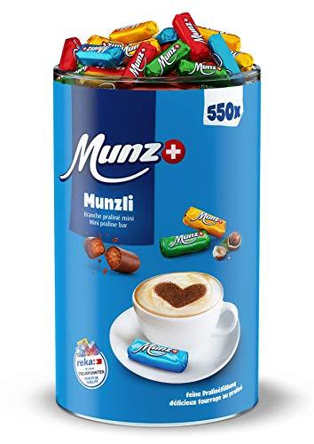 Munzli Mini-Praliné Milch | MILCH | von Munz | Schweizer Schokolade | 2,5 kg Großpackung | ca. 550 Stück | Feine Pralinen | Nougat-Füllung mit gerösteten Haselnuss-Splittern