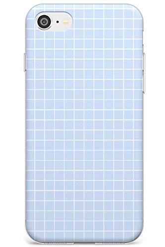 Semplicistico Piccole reti Blu Slim Cover per iPhone 6 TPU Protettivo Phone Leggero con Geometrico Modello Linee Lined Matematico