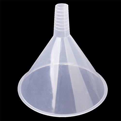 Mefeny Embudo de plástico transparente de 150 mm para cocina/laboratorio/coche/líquidos de coche