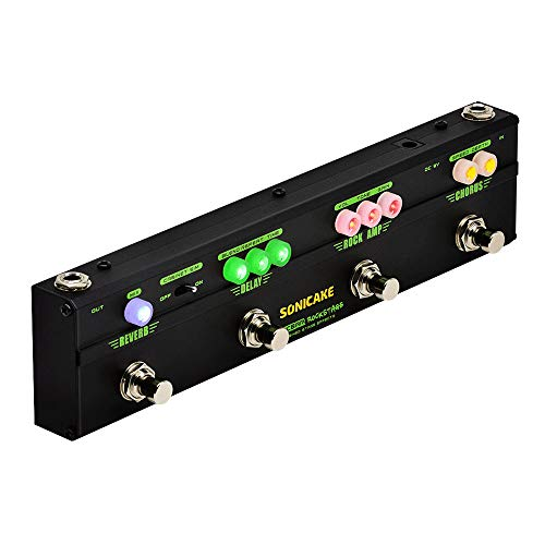 SONICAKE RockStage Multi Effects Klassisches Rock-Klangverzerrungs-Chorus-Delay Reverb-Cab-Sim-Gitarrenpedal