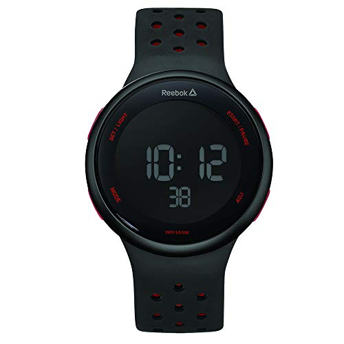 REEBOK Herren Digital Uhr mit Silikon Armband RD-ELE-G9-PBIB-BR