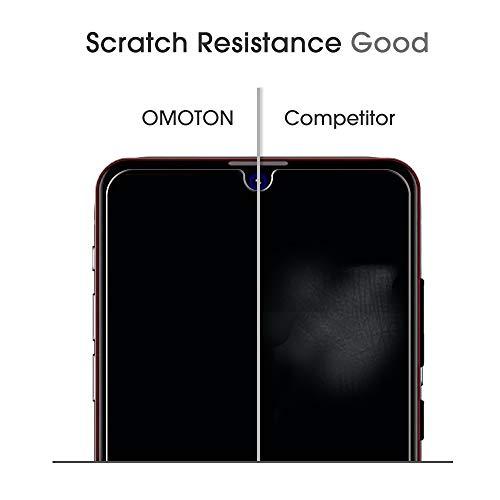 OMOTON [2 Stück] Schutzfolie kompatibel mit Huawei P30 Lite 9H Härte, Mit Positionierhilfe, Anti-Kratzen, Anti-Öl, Anti-Bläschen,Kristall-klar [2.5D Runde Kante] - 5