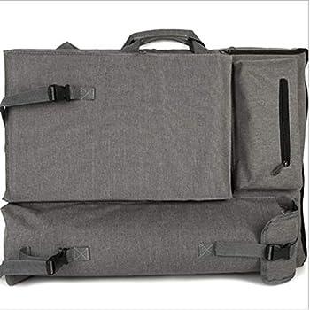 HANNA-SHOP Artist Bag Canvas Artist Portfolio Case Carry Backpack Colorized Sketch Board for Art Supplies Storage and Traveling Size Tricolor, H64L49cm