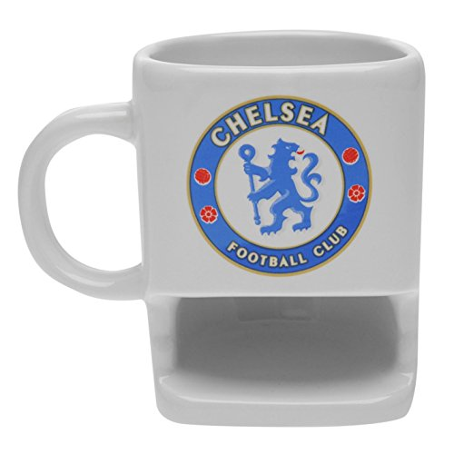 Chelsea Football Club - Taza de galletas con soporte para golosinas, ideal como regalo para los fans