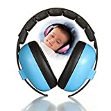 Kobwa Baby-Gehörschutz-Kopfhörer mit Geräuschunterdrückung für Kinder und Kleinkinder, verstellbar für 3 Monate bis 10 Jahre blau