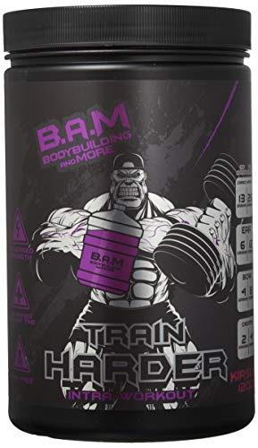 B.A.M. Train Harder Intra Workout Supplement, Cherry