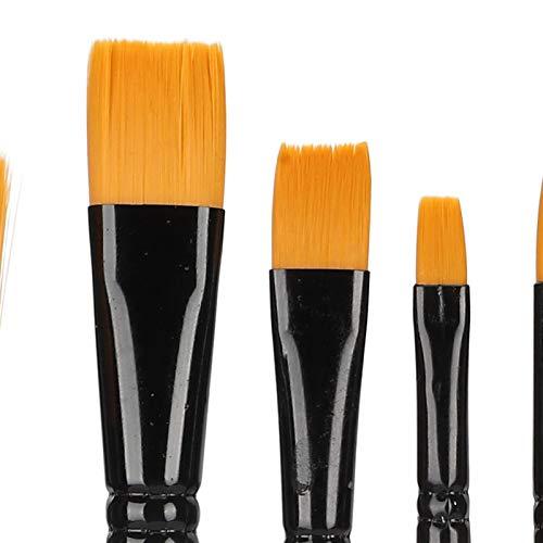 Pincel de nylon, conjunto de ferramentas de pintura acrílica com 10 pincéis de nylon macios e confortáveis, materiais de pintura.