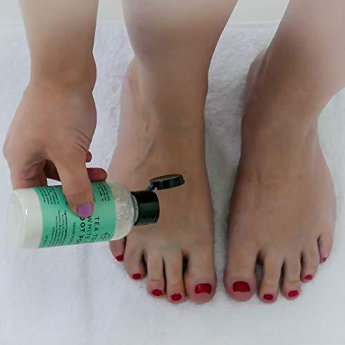 O Naturals Tea Tree Oil Kaolin Clay Foot Powder. Natural Deodorant for Men & Women Anti-Fungal Anti-Sweat Athlete Foot Care Toenail Treatment Peppermint Oil Aloe Vera Body Nails Powder No Talc. 3.5oz