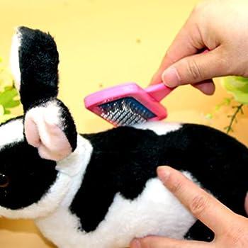 Chou 1 Pc Peigne De Lapin,Brosse pour Animal De Compagnie,Peigne De Toilettage Produits De Bain