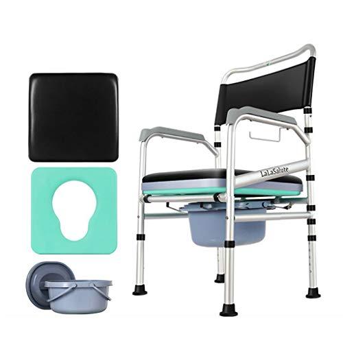 Old Man's Chair ZLMI oude toilet, draagbaar, mobiele toilet, kruk, dames, luidsprekers, toiletstoel, uitgebreid, verstelbaar